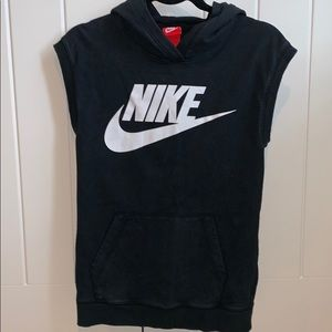 Nike Cut Off Hooded Sweatshirt
